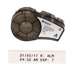Лента для принтера этикеток BRADY M21-750-7425. Маркировка для лабораторий. Картридж: 19.05 mm х 6.4 m. Цвет: черный на белом