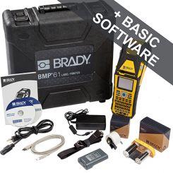 Принтер BMP61-CYRILLIC, русско-англ. клавиатура, WIFI. В компл.: жесткий кейс, USB кабель, батарея, шнур питания, ремень, PTL-19-423, M61-R6010, быстрый старт, СD с информацией о принтере и драйверами. ПО Brady Workstation Basic Suite