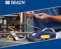 Фишка портативного принтера этикеток BRADY M611 в  подключении по Wi-Fi или Bluetooth.