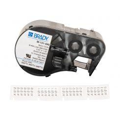 Лента с этикетками для принтера BRADY M-131-499 нейлон, для маркировки, черный на белом, картридж 12,7мм * 25,4мм, 180 шт.