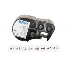 Лента для принтера BRADY MC-375-422 полиэстер, для маркировки, черный на белом, картридж 9,525мм * 7,62м